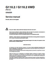 New Holland Graders G110.2_G110.26WD Tier 2 Service Manual