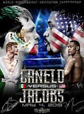 Saul Canelo Alvarez vs Daniel Jacobs 4LUVofBOXING Poster New Boxing gym wall art