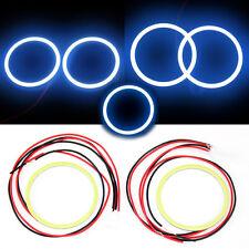 2x 80 MM COB LED Angel Eyes Halo Ring Bulb Car Fog light Lamps For Mahindra