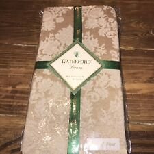 4 NEW WATERFORD LINENS Exeter Cloth Fabric Napkins Gold & Ivory