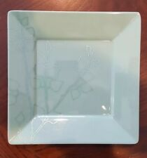 Green Teal Floral Display Plate Tray Dish Decorative Plastic
