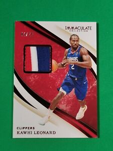 2019-20 Immaculate Swatches Red SP /25 #8 Kawhi Leonard R6220J