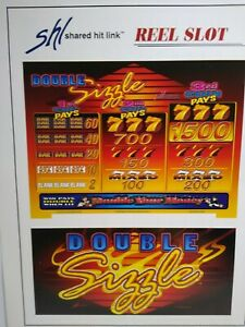 Sigma Slot Machine FLYER Double Sizzle Video Casino Vintage Gaming Sheet 1995