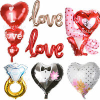 Foil Balloon Heart Shape LOVE Birthday Wedding Party Anniversary Helium Decor