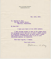 SIGNED SUPREME COURT JUSTICE WILLIAM R. DAY LETTER