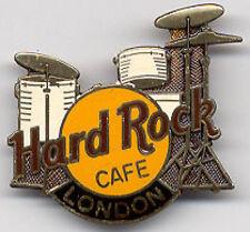 Hard Rock Cafe LONDON 1990s Drum Kit PIN DRUMS #4912 F.C. Parry FCP Pebble Back!