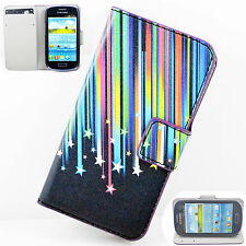 Leather Flip Wallet Slot Phone Skin Cover Case For Samsung Galaxy S3 Mini i8190