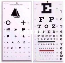 Snellen & Kindergarten / Children Eye Exam Test Wall Charts SET 2 pcs EC-WSK