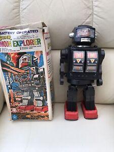 VINTAGE RETRO 1970s SUPER MOON EXPLORER SPACE ROBOT HK TOYS Spares Or Repair
