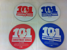 101 Christmas Songs 4 Disc Music CD 2007 Various Artists - DISCS ONLY in Sleeve