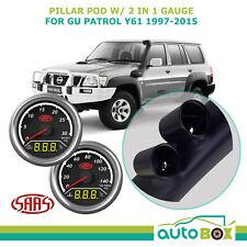 SAAS Pillar Pod for Nissan GU Patrol Y61 1997-2015 w/ Boost EGT Water Oil Gauge