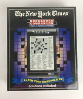The New York Times Crossword Companion Roll A Puzzle System 24 Puzzles Solutions