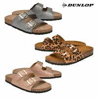 Womens Dunlop Jasmine Summer Beach Holiday Slip On Mule Sandals