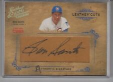 2004 Donruss Leather & Lumber Leather's Cuts  Ron Santo Autograph Chicago Cubs