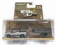 Greenlight 1/64 2018 Nissan Titan XD Pro-4X and Dump Trailer Chase Car 32160D