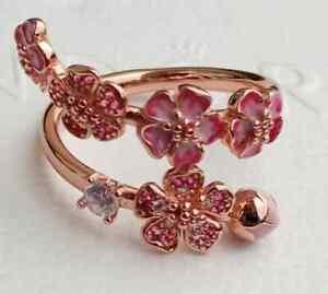 Pandora Ring Rose 188088NCCMX Peach Blossom Flower Branch ALE MET SIZE 58