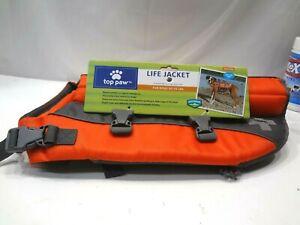 New Top Paw Life Jacket Orange Size Medium (Dogs 30 - 55 lbs.) New