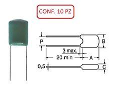 COPM 8.2K CONDENSATORE IN POLIESTERE MYLAR 100V 8.2nF CONF. 10 PZ