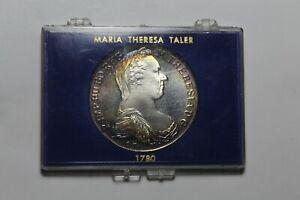 1780 Autriche Thaler Réamorçage Argent Preuve ~ National État Bank Original ~