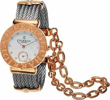 Charriol Women's St Tropez MOP Diamond Dial Two Tone Quartz Watch ST30CP1560023