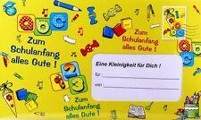 """XXL Umschlag  """"Zum Schulanfang..."""" Geldgeschenk Karte Schultüte Zuckertüte"""