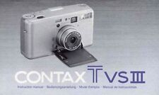 Contax T VS III Bedienungsanleitung / Manual Instruction neu