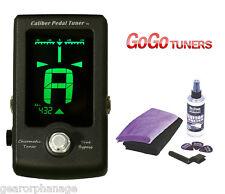 GoGo Caliber Chromatic Pedal Guitar Tuner + BONUS GUITAR CARE KIT! Go Go NEW