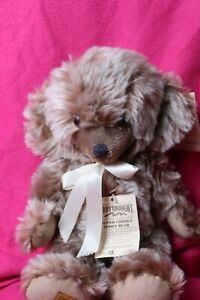 "Merrythought Tipped Mohair Cheeky Bear 15"" Pale Brown"