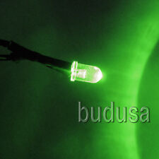 5mm Green 12v LED Pilot Light Pre-Wired Dash Lights