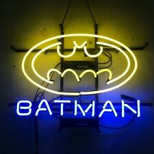 "17""x14""BATMAN Neon Sign Light Home Theater Hallway Wall Hanging Real Glass Tube"