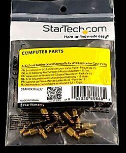StarTech 6-32 Brass Motherboard Standoffs ATX Computer Case 15 Pk STANDOFF632