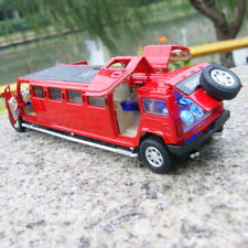 Model Cars Hummer H6 MPV7 Extended 1:32 Alloy Diecast Sound&Light Red Toys Gifts