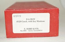 Hon3 Brass S.SOHO D&RGW Coach #320 with Bay Windows