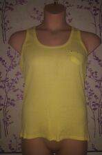 Yellow Vest Top Size 16 perfect for spring summer and warm days
