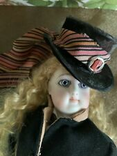 """13""""  ANTIQUE FRENCH FASHION DOLL.. FG (MARKED  DOLL)-ALL ORIGINAL-SIZE 0"""