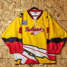 Vintage Indians NAHL 25th Year Greektown Casino Authentic Game-Worn Jersey XXL