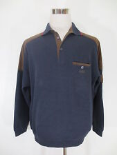 Sailing CLAUDIO CAMPIONE Button Polo Pullover Sweathirt L langarm  braun/GG3