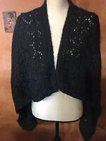 Ann Taylor Loft long sleeve sweater cardigan knit Black Size Small