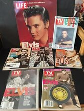 """Elvis Presley Lot--""""A Celebration In Pictures"""" By Life Magazine  +6 Tv Guides"""