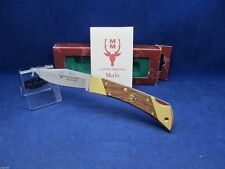 Muela Hunter Knife With Satin Finish  Brass Bolsters 25M - Mint In Box
