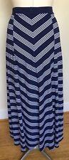 Tommy Hilfiger Medium Long Maxi Knit Skirt Navy Chevron