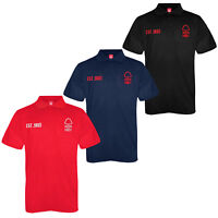 Nottingham Forest FC Official Football Gift Mens Crest Polo Shirt