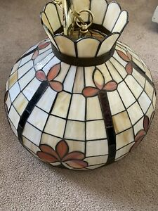 Tiffany Style Vintage Hanging Ceiling Lamp Stained Glass Light Chandelier