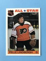 Pelle Lindbergh All-Star Topps Hockey Sticker Hockey Card #6