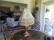 Custom Made Green Palmetto Chenille Jacquard Contemporary Victorian Lamp Shade
