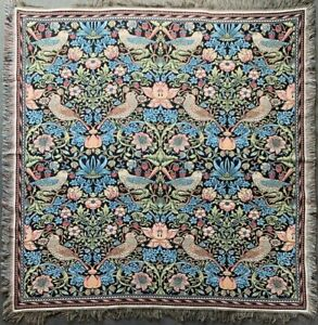 WILLIAM MORRIS STRAWBERRY THIEF TAPESTRY BED SOFA COUCH THROW BLANKET DECOR
