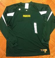 GREEN BAY PACKERS NFL NFC LONG SLEEVE SHIRT LARGE POLYESTER AR11 NEW w/ HOLOGRAM