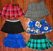GIRLS SKORT Lot SIZE 7 ALL Justice School Plaid Red Blue Green Gray Flowers