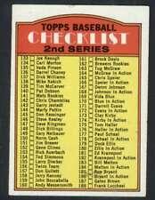 1972 Topps #103 Checklist 133-263 EX/EX+ 58838