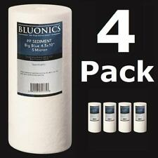 """4-PK Big Blue 10 x 4.5"""" (5 Micron) Sediment Whole House Water Filters Iron Rust"""
